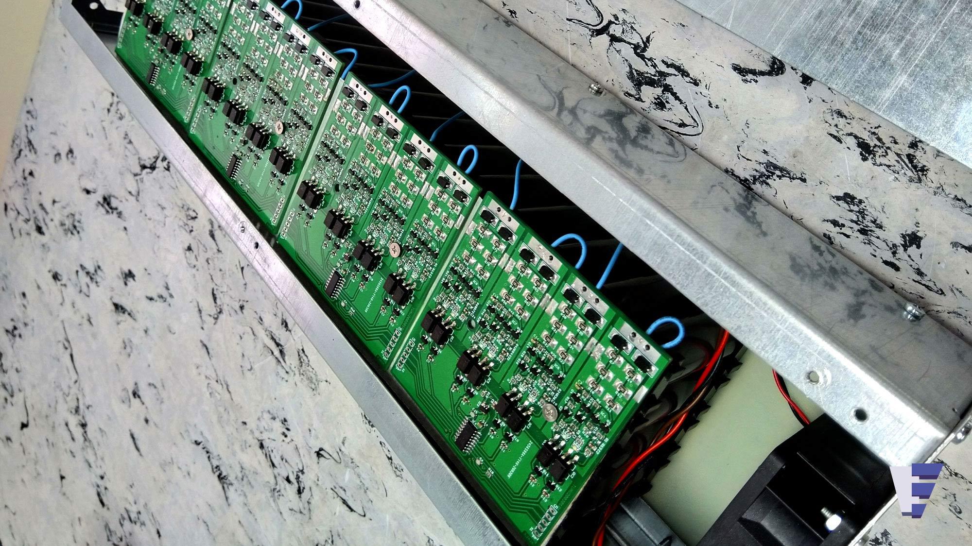 Velčić Ltd - Li-Ion battery modules - power and signaling electrical installation